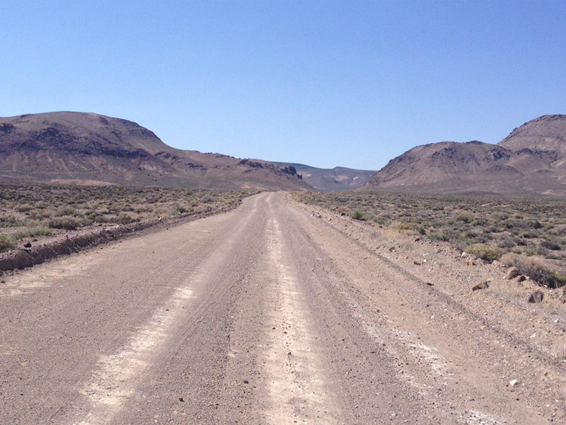 Eastside 9.7km away on gravel road from Nevada Highway 95